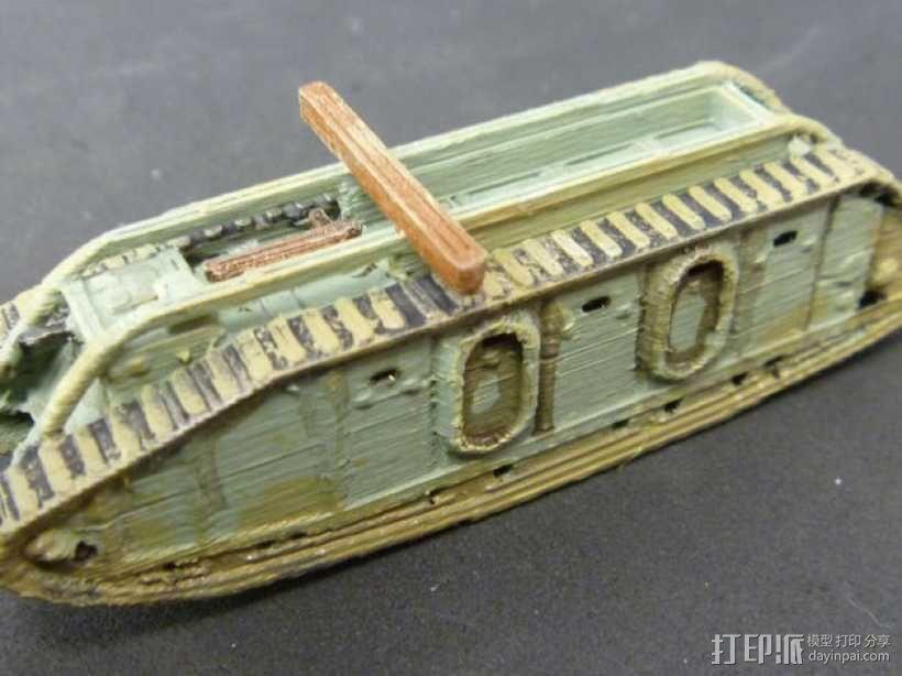 一战坦克 3D模型  图5