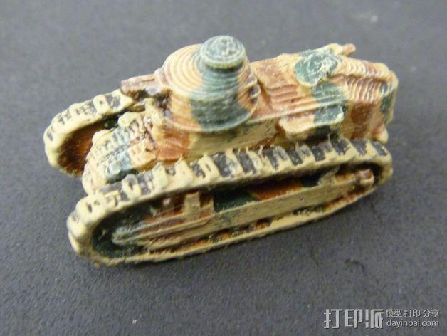 一战坦克 3D模型  图4