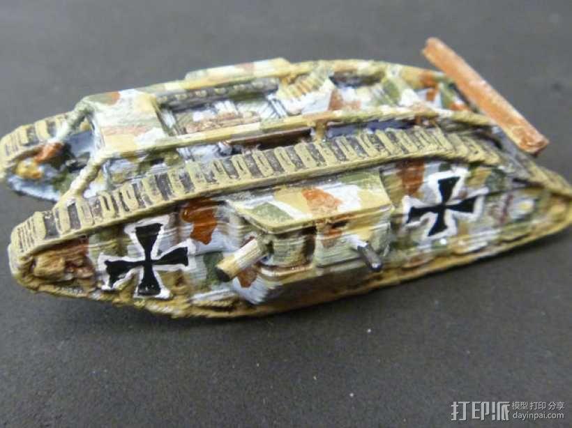 一战坦克 3D模型  图8