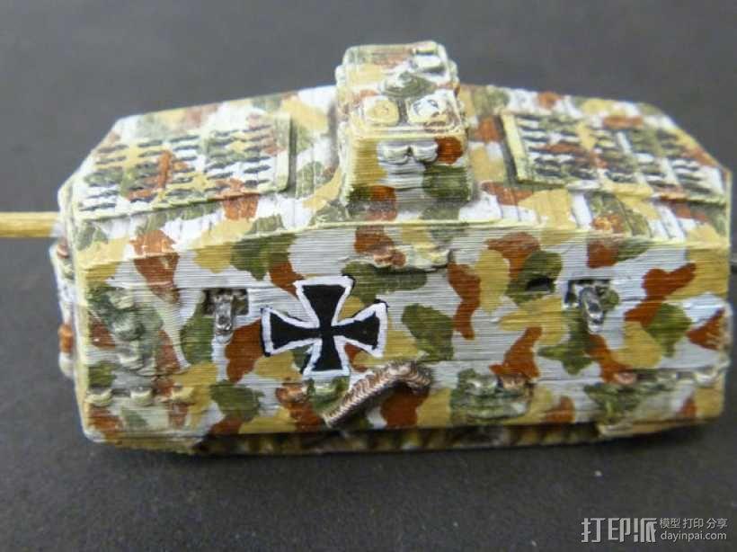 一战坦克 3D模型  图9
