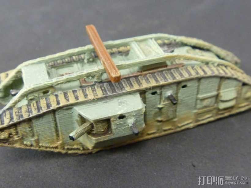 一战坦克 3D模型  图10
