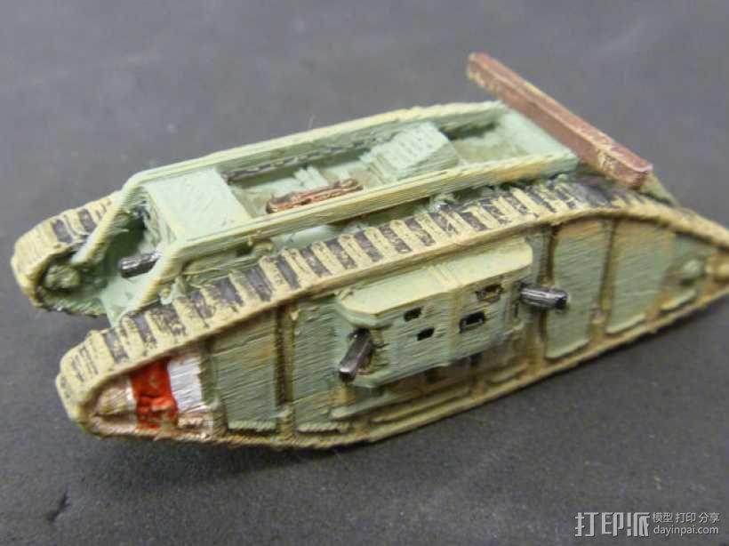 一战坦克 3D模型  图14