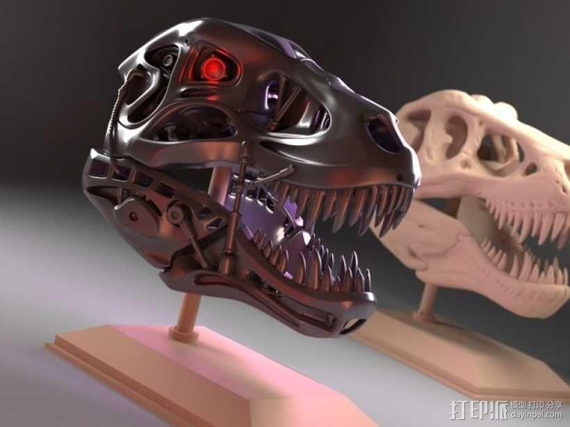会发光的霸王龙 3D模型  图1