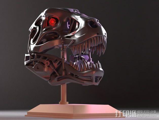 会发光的霸王龙 3D模型  图3