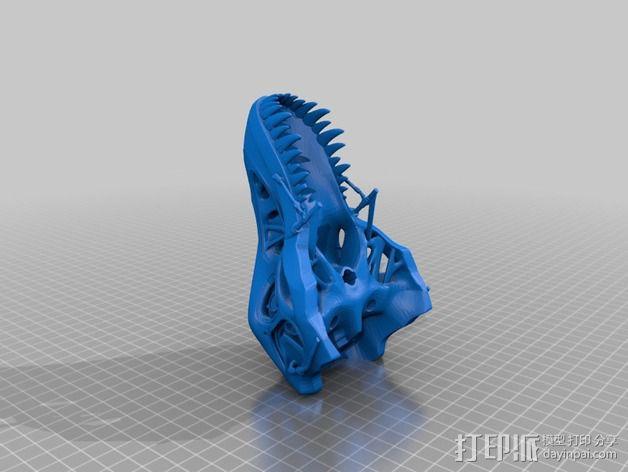 会发光的霸王龙 3D模型  图5