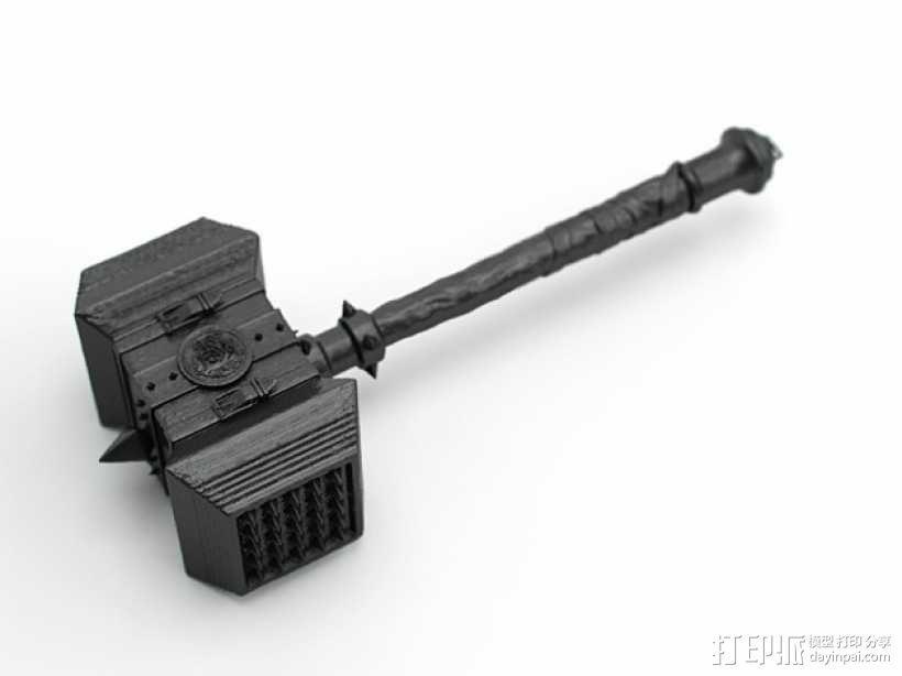 《魔兽争霸》 锤子 3D模型  图1