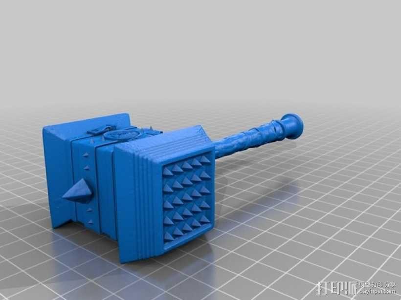 《魔兽争霸》 锤子 3D模型  图2