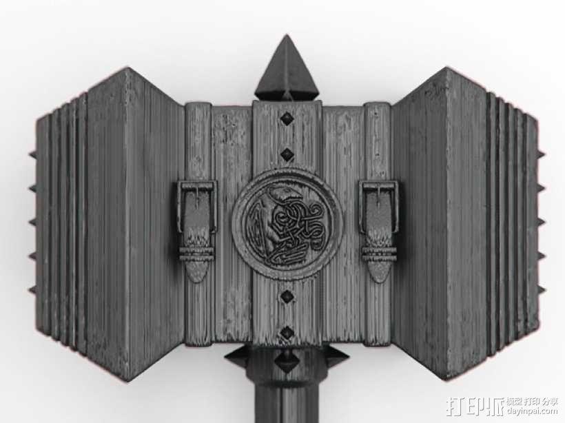 《魔兽争霸》 锤子 3D模型  图4