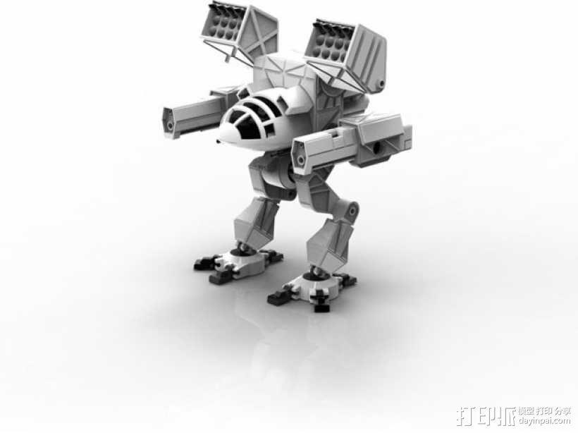 Mad Cat MKII 装甲机器人 3D模型  图1