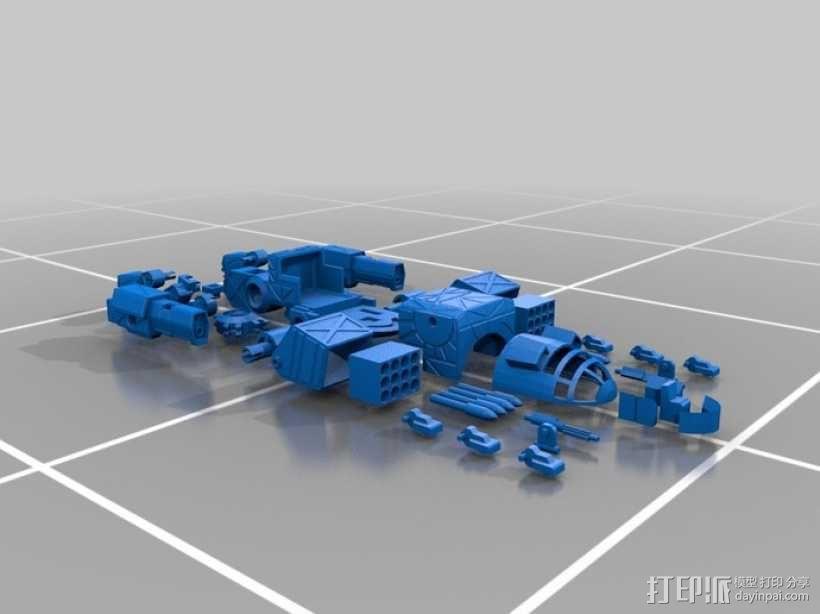 Mad Cat MKII 装甲机器人 3D模型  图8