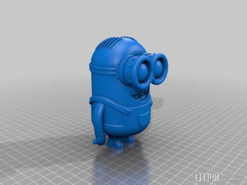 小黄人 戴夫 3D模型  图1