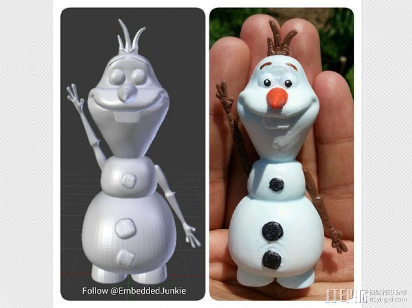 雪宝 Olaf 3D模型  图1