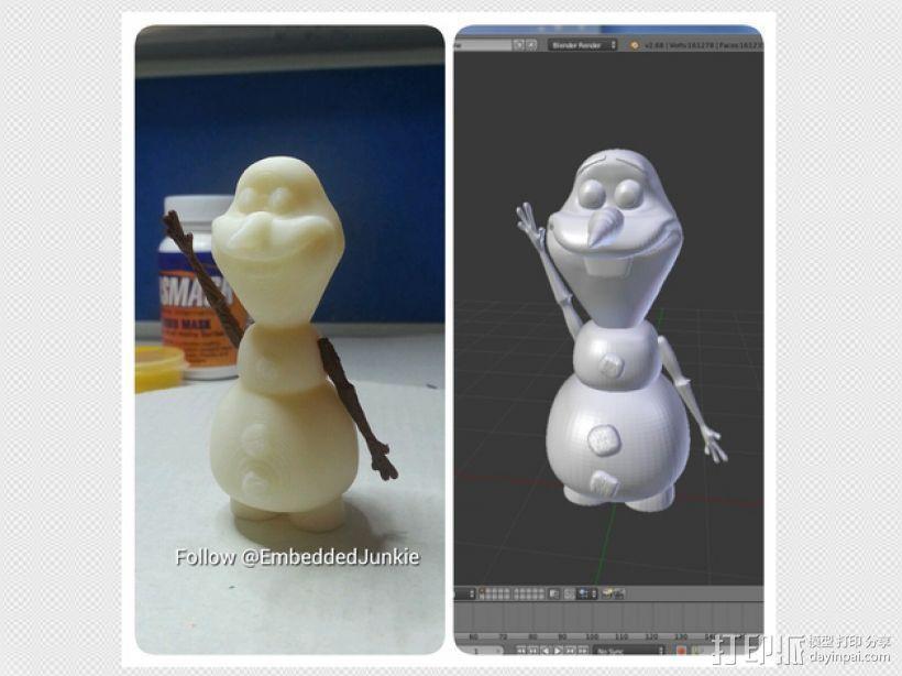 雪宝 Olaf 3D模型  图4