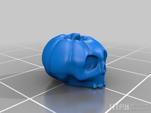 南瓜 骷髅头 3D模型  图2
