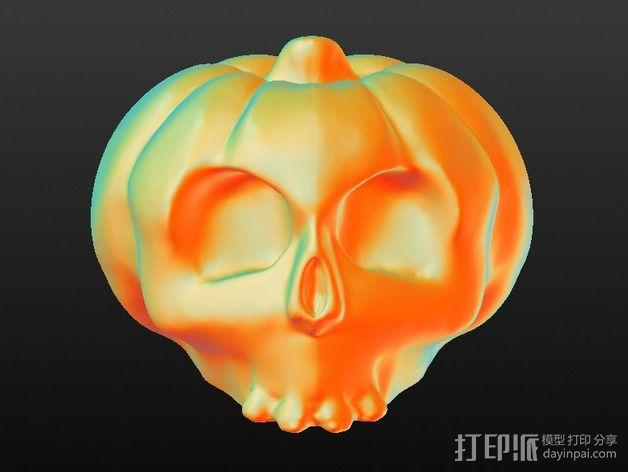 南瓜 骷髅头 3D模型  图3