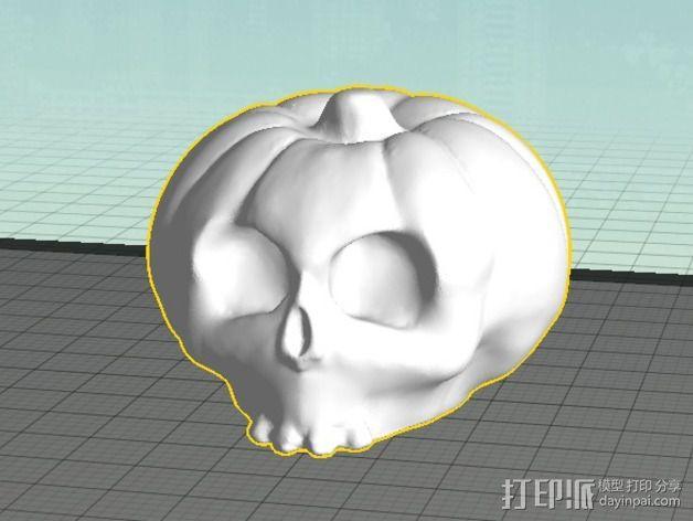 南瓜 骷髅头 3D模型  图4