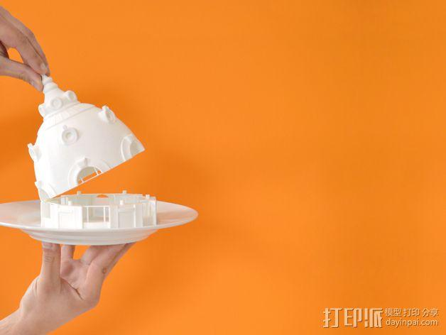 巴黎建筑 圆顶屋 3D模型  图1
