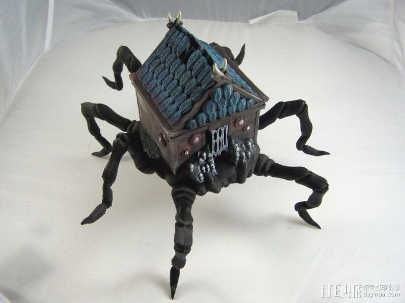 小屋 蜘蛛 3D模型  图1