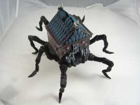 小屋 蜘蛛 3D模型