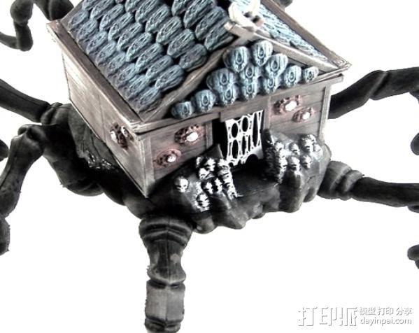 小屋 蜘蛛 3D模型  图2