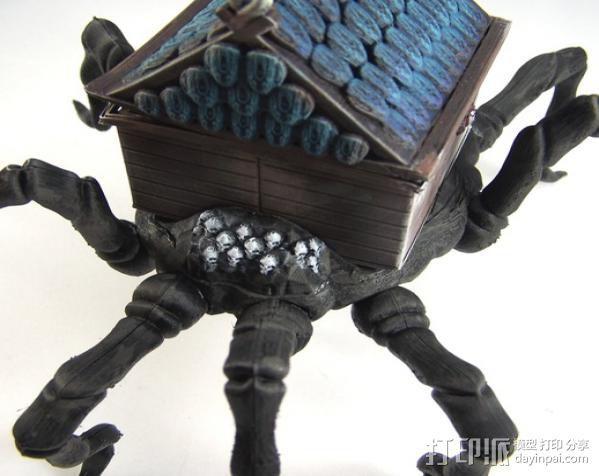 小屋 蜘蛛 3D模型  图6