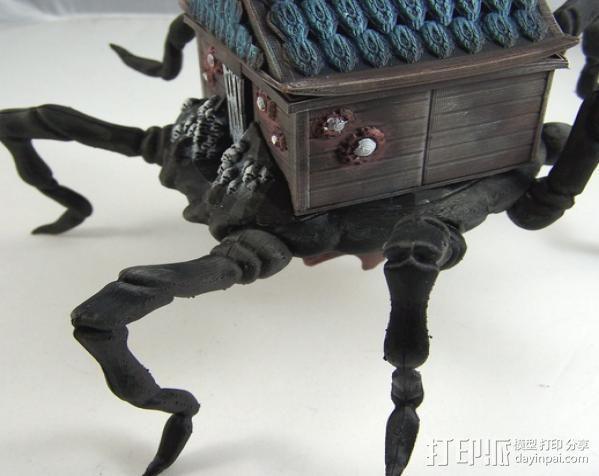 小屋 蜘蛛 3D模型  图5
