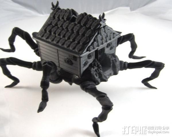 小屋 蜘蛛 3D模型  图3