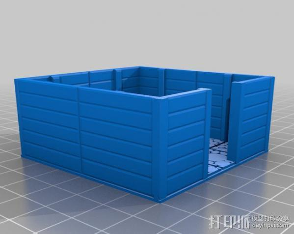 小屋 蜘蛛 3D模型  图9
