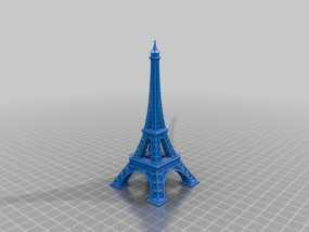 埃菲尔铁塔 3D模型
