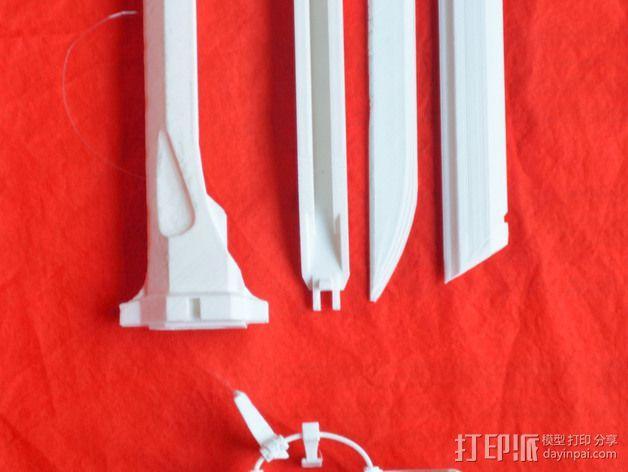 Corvo折刀 3D模型  图3