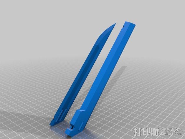 Corvo折刀 3D模型  图5