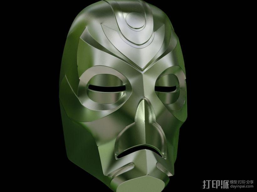 游戏《天际》龙祭司面具 3D模型  图2