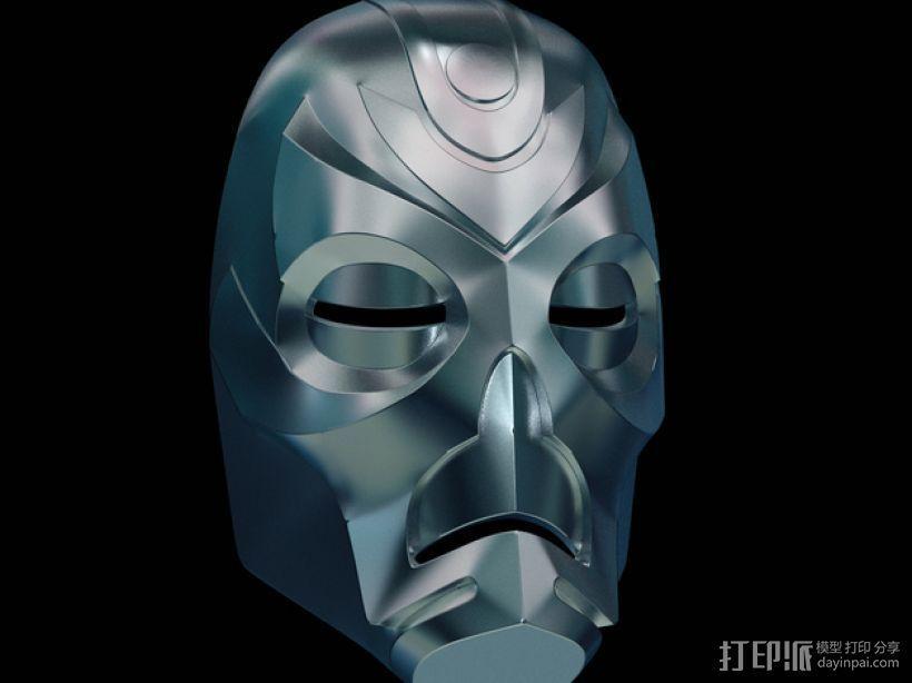 游戏《天际》龙祭司面具 3D模型  图1