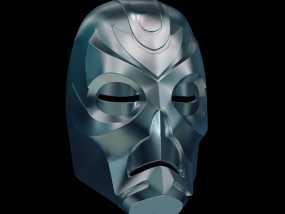 游戏《天际》龙祭司面具 3D模型