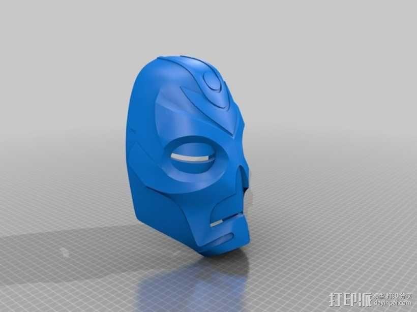 游戏《天际》龙祭司面具 3D模型  图3