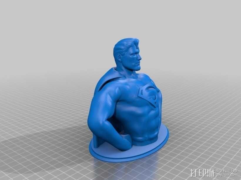 超人 半身像 3D模型  图2