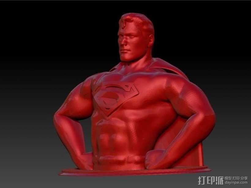 超人 半身像 3D模型  图6