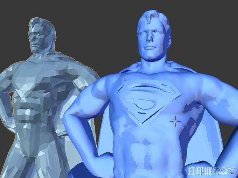 超人 半身像 3D模型  图4