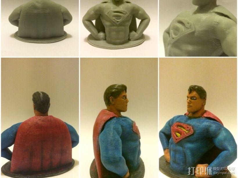 超人 半身像 3D模型  图3