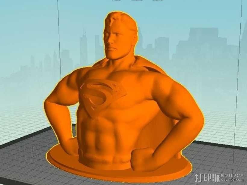 超人 半身像 3D模型  图5