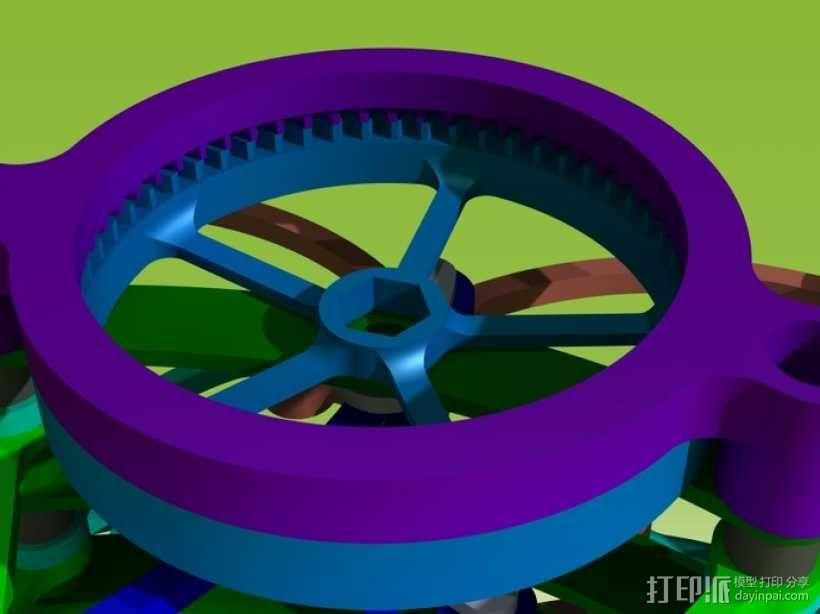 迷你风扇 3D模型  图7