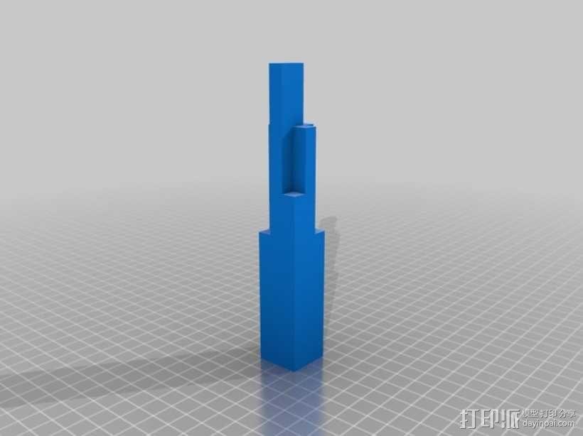 摩天大楼 象棋棋子 3D模型  图4