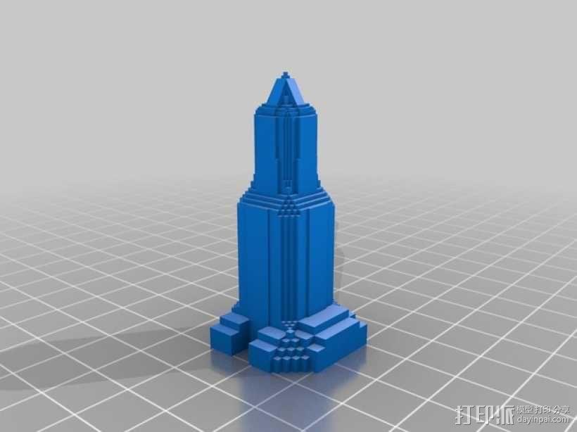 摩天大楼 象棋棋子 3D模型  图9