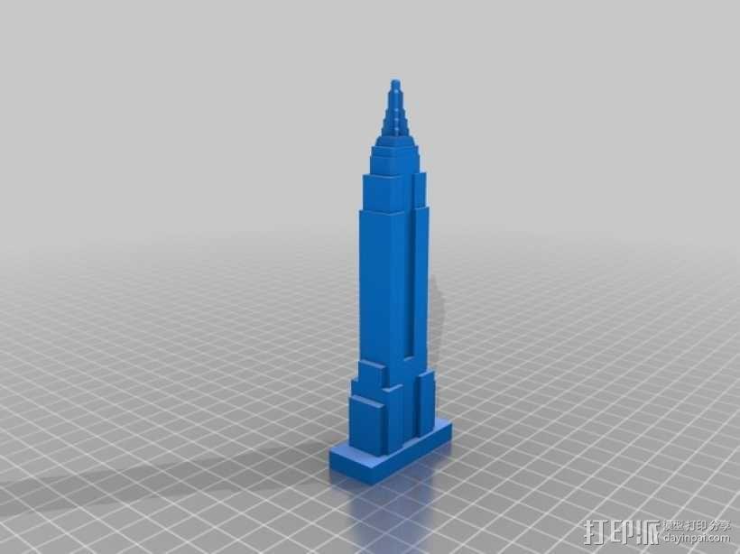 摩天大楼 象棋棋子 3D模型  图10