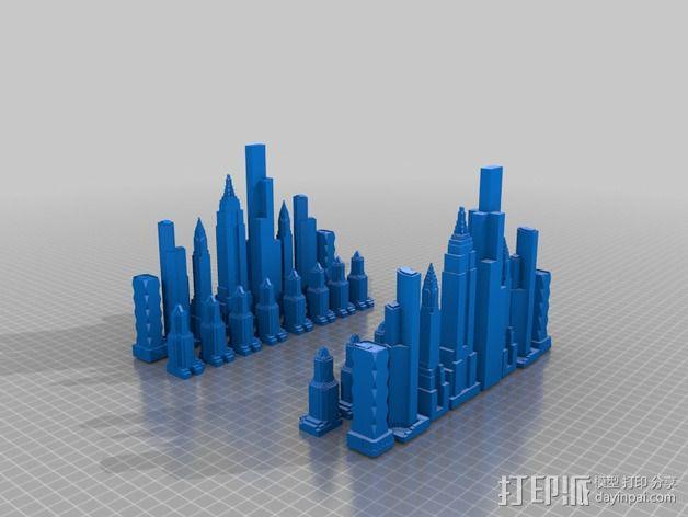 摩天大楼 象棋棋子 3D模型  图13