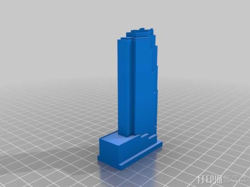 摩天大楼 象棋棋子 3D模型  图11