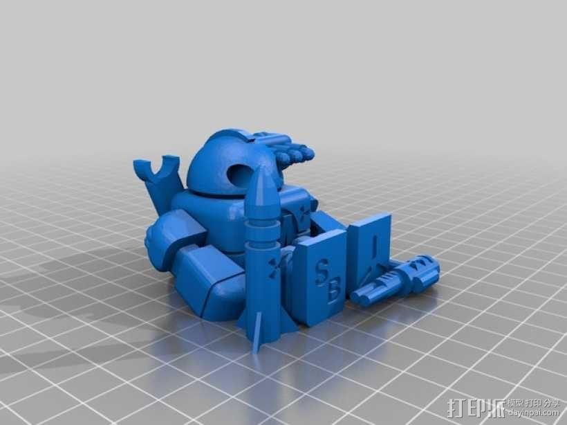 Makerbot机器人 3D模型  图2