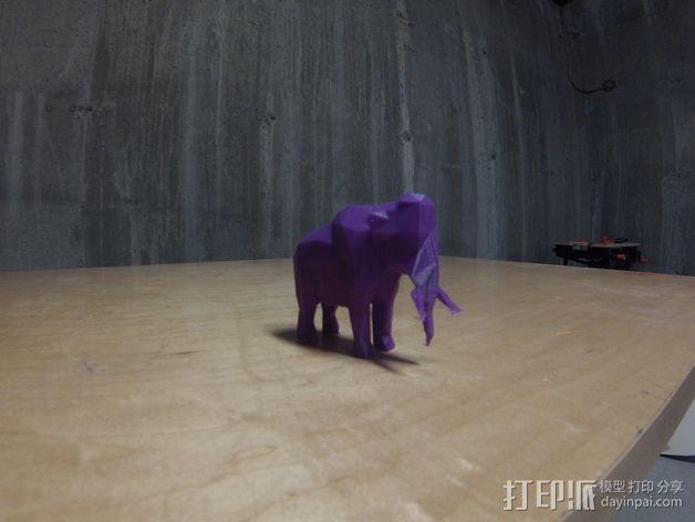 低面数猛犸象 3D模型  图2