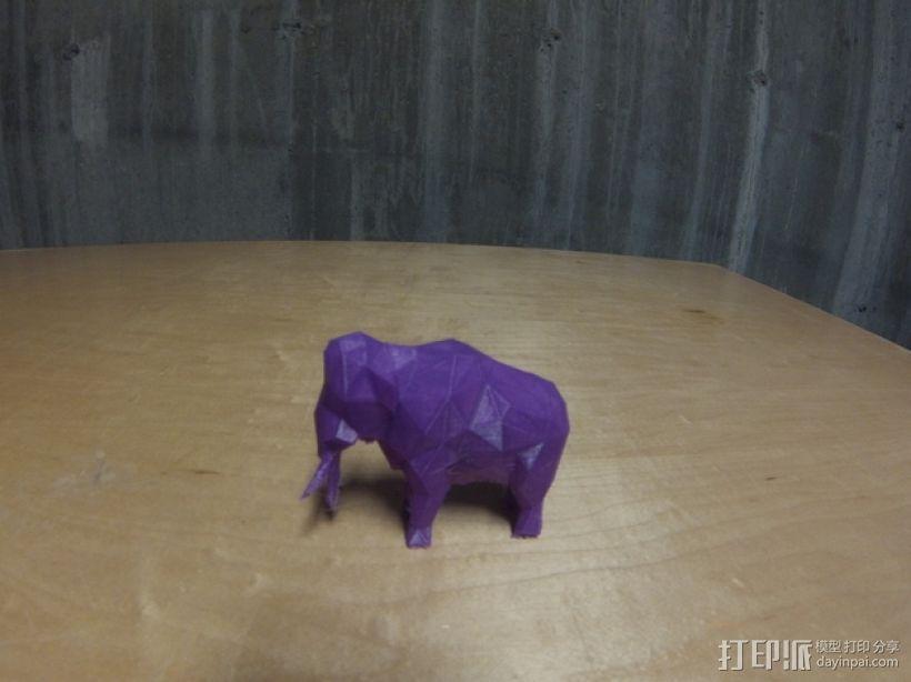 低面数猛犸象 3D模型  图1