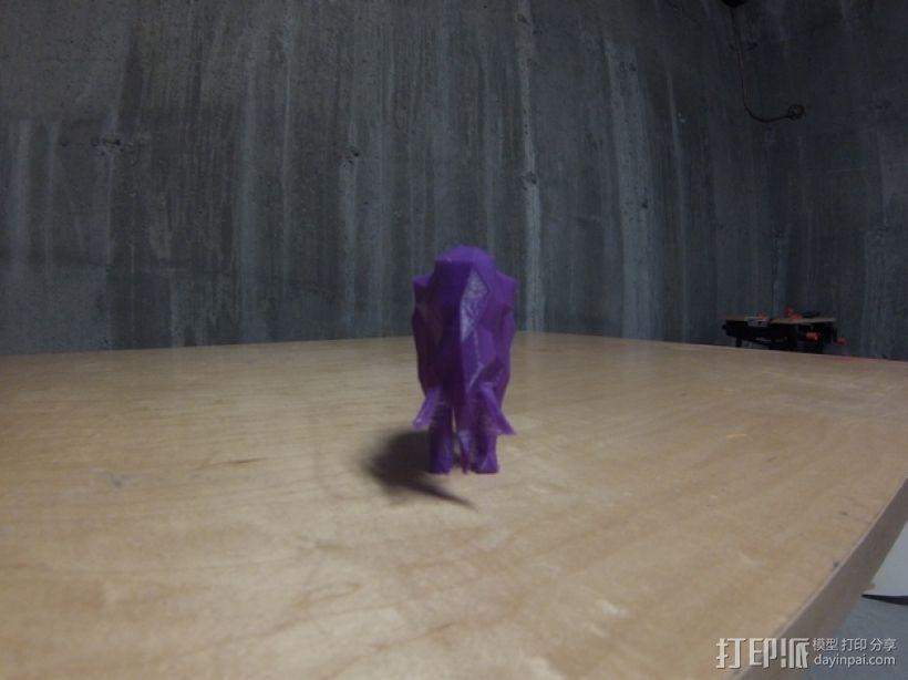 低面数猛犸象 3D模型  图3